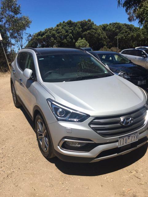 Brand New Hyundai Santa Fe, Rented from Hertz